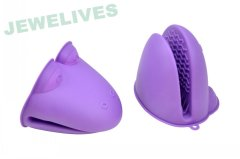 Jewelives Silicone & Rubber goves in cute design Yellow