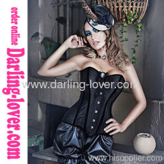 Black Sexy Overbust Classic Corsets