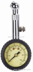 Michelin type dial air tire gauge with rubber casing