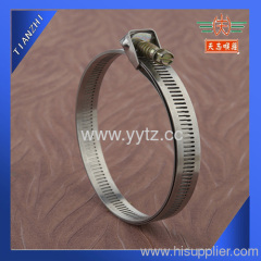 perforated band quick release hose clamp