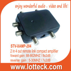 2 in 4 out remote link active splitter