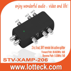 2 in 6 out sky remote link active splitter