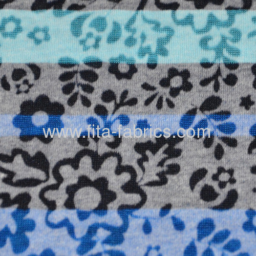 T/C burn out knitted fabric with printing very light weight