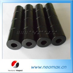 black coating magnets; ring magnets black