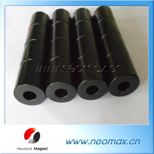 black coating magnets; ring magnets black