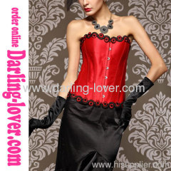 Red Sexy Flower Fashion Corset