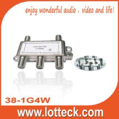 5-1000Mhz 4- way splitter
