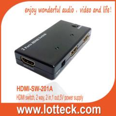 Black 2 PORTS HDMI SWITCH
