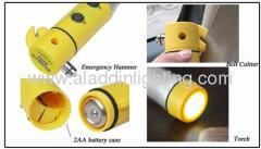 Emergency LED Flashlight with life hammer