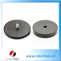 Rubber covered neodymium magnet