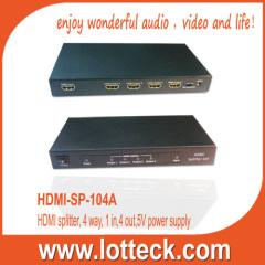 HDMI-SP-104A 4 WAY HDMI1.3 SPLITTER