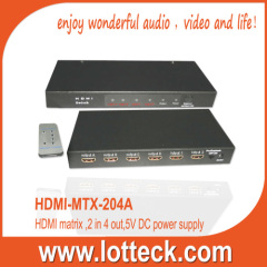 LOTTECK 2×4 HDMI 1.3 Matrix