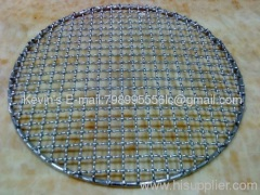 Oblate Wire welded Round shape)Barbecue Grill Netting