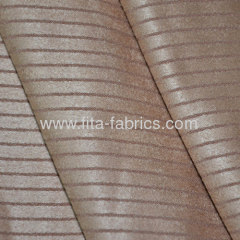 Straight Stripe Jacquard Faux Suede Fabric For Sofa