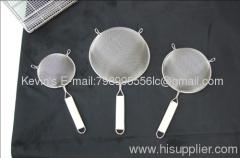 stainless steel food strainer/ skimmer/ frying strainer