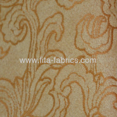 Polyester jacquard faux suede for curtain fabric
