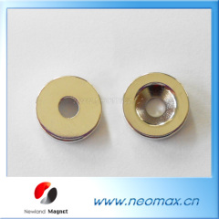 Countersunk round neodymium magnets