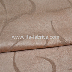 Jacquard Faux Suede Fabric For Sofa or Shoes