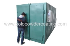 Leading manufacturer powder coating cure oven