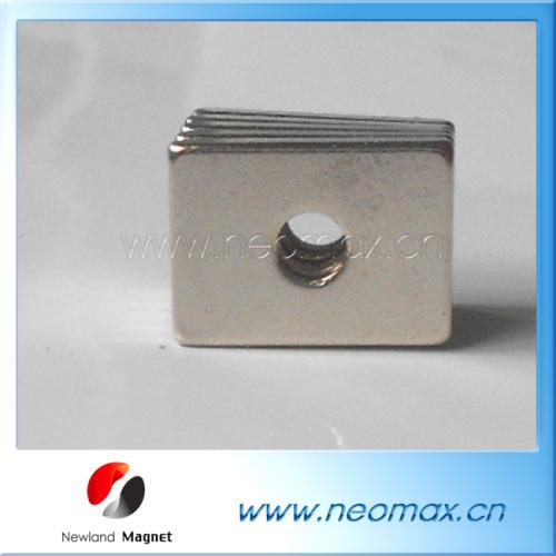 Rectangular neodymium magnets with countersunk