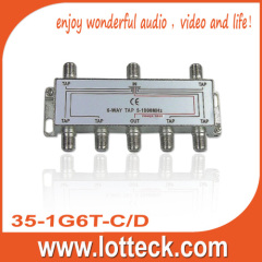3.0-6.8dB Insertion Loss 35-1G6T-C/D 6-way tap