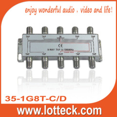 4.0-7.8dB Insertion Loss EMC TESTED 8-WAY TAP
