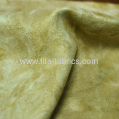 High Quality 105D*150D Polyester Tie-Dye Suede