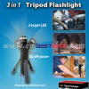 3 IN 1 TRIPOD FLASHLIGHT