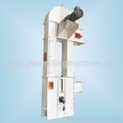 Bucket elevator deliver grain at vertical or big dip angle directions grain lifting