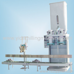 double work position pack machinery packer with weight of 20kg and 25kg per bag in flour or feed plants