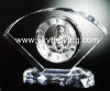crystal glass clock, clock