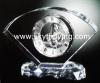 crystal glass clock, clock