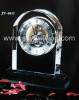 crystal clock, crystal desk clock