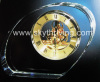 glass clock, crystal gift clock