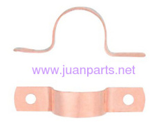 Copper fitting with two holes copper tube strap