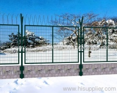galvanized & PVC coated bilateral wire fence
