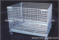 (Steel plate added)Wire Mesh Container/Tote box