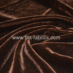 High quality folded shiny velvet pleuche fabric or panne velour