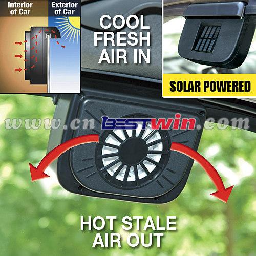 HOT AUTO SOLAR CAR FAN SET OF TWO