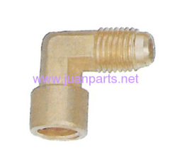 Brass pipe fitting pipe 90 degree external flare to NPTFI