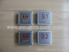 Thyssen Elevator Lift Parts MTD288 Red Light Thinner Braille Button
