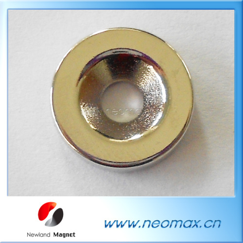 Sintered neodymium magnets with countersunk