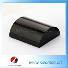 half round neodymium magnets black