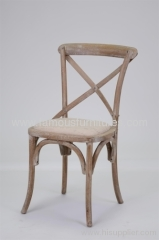 oak wood antiques style cross back dining chairs