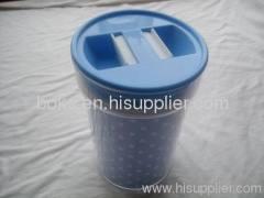 hard plastic lid scanister