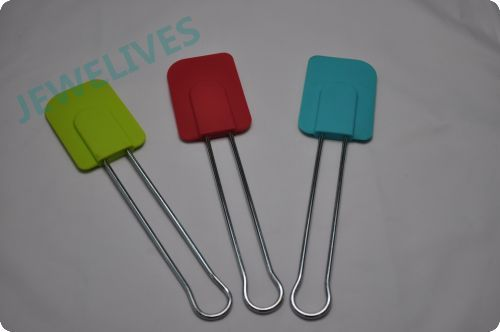 Jewelives Silicone Baking Tools Scraper With line Handle
