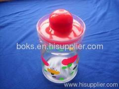 plastic canister with lids