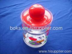 durable cheap plastic canister with lids