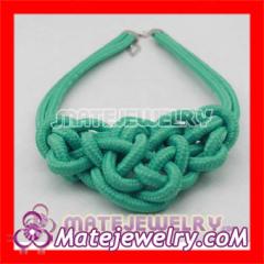 Braided Choker Bib Necklace