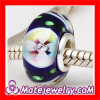 Handmade Sterling Silver Core european Lampwork Glass Charm Beads